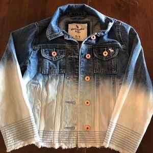Abercrombie Kids Sz 5/6 ombré jean denim jacket